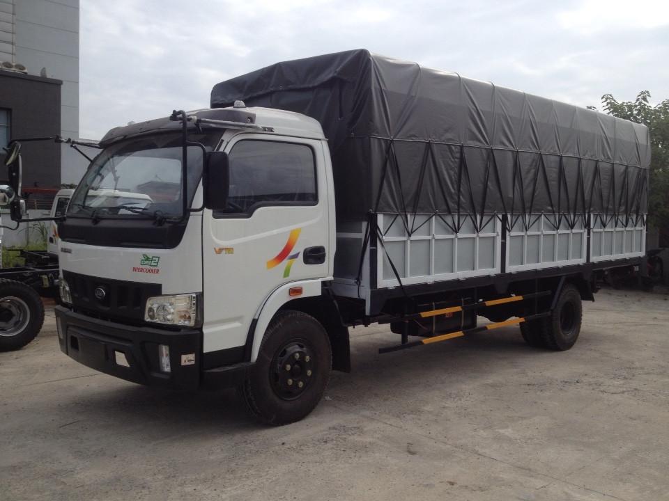 Xe Tải Veam VT 750 ( Động cơ,cầu trục số HYUNDAI) Tải 7360 kg,thùng dài 6,2m 1