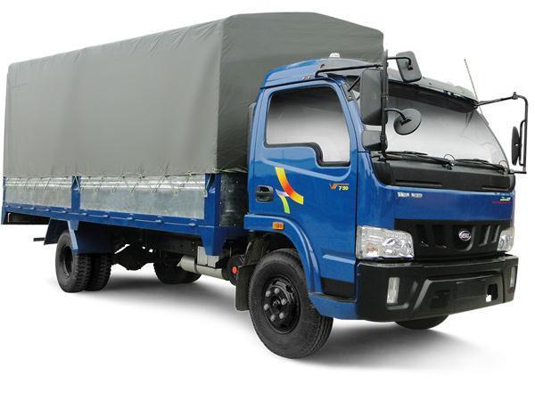Xe Tải VEAM VT750 ( Động cơ, cầu trục số HYUNDAI) Tải 7360 kg, thùng dài 6,2m